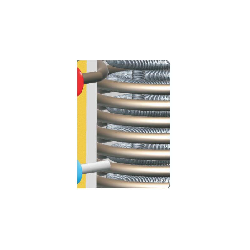akumulační nádrž kombinovaná s bojlerem a dvěma topnými spiralemi