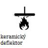 keramický deflrktor