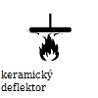 keramický deflektor