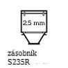 2,5mm zásobník
